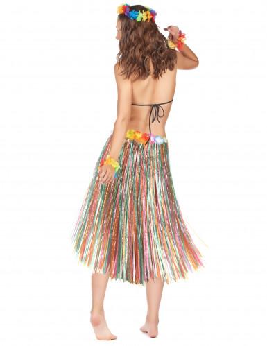 Lange kleurige hawaii rok voor dames-1