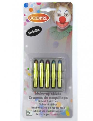 5 Glitter schmink potloden