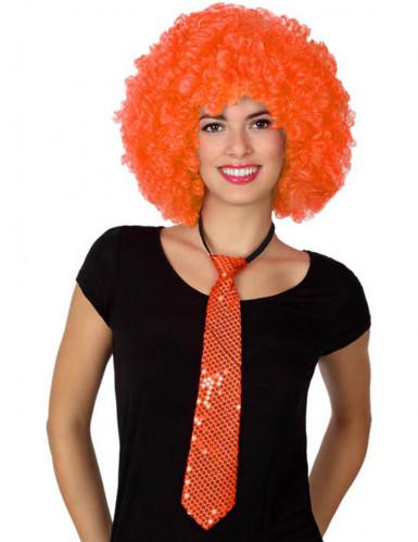 Oranje glinster stropdas