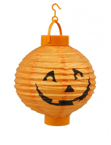 Led lantaarn oranje Halloween pompoen