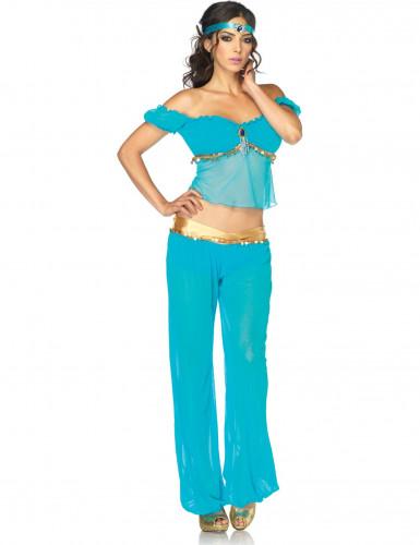 Blauw buikdanseres pak voor dames
