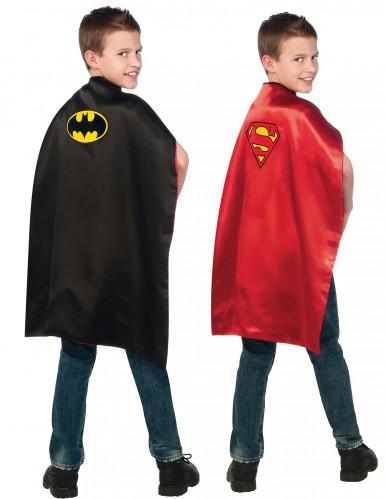 Omkeerbare  Batman™ en Superman™ cape voor kinderen
