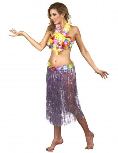 Lange paarse Hawaiiaanse rok voor vrouwen-1