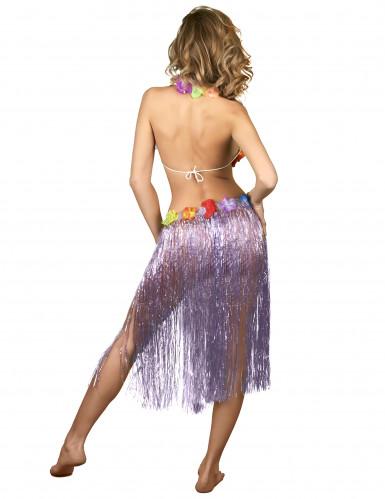 Lange paarse Hawaiiaanse rok voor vrouwen-2
