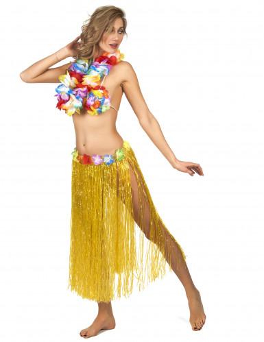 Gele Hawaiiaanse rok voor volwassenen-1