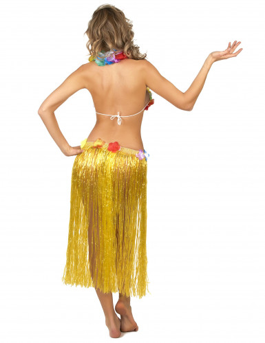 Gele Hawaiiaanse rok voor volwassenen-2