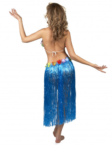 Lange blauwe Hawaiaanse rok voor vrouwen-2