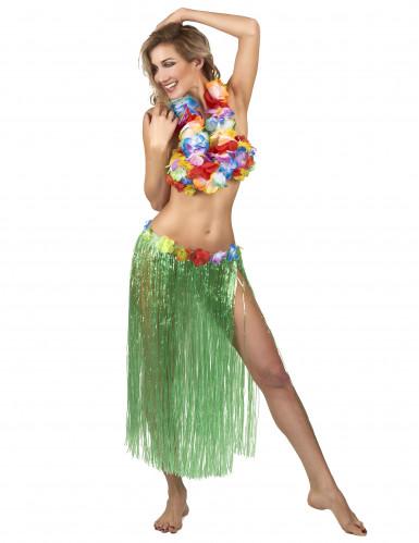Hawaïaanse lange rok in het groen voor volwassenen-1