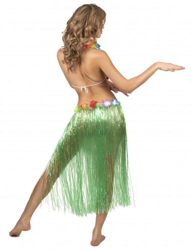Hawaïaanse lange rok in het groen voor volwassenen-2