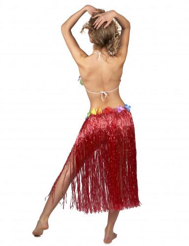Rode Hawaiiaanse rok voor vrouwen -2