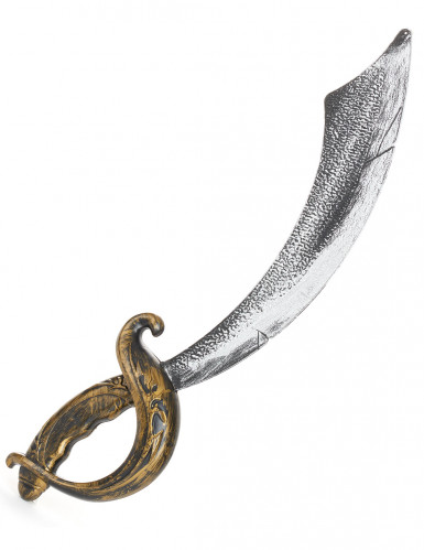 Zilverkleurige en goudkleurige piraten sabel