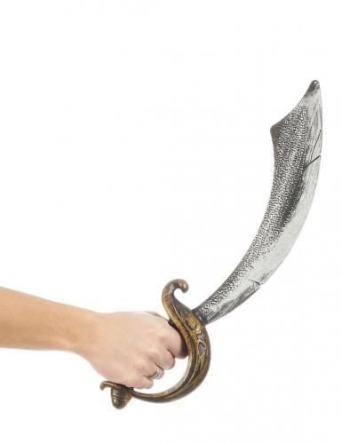 Zilverkleurige en goudkleurige piraten sabel-1