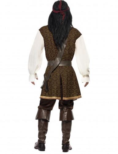 Bruin piraten kostuum voor mannen -2