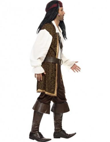 Bruin piraten kostuum voor mannen -1