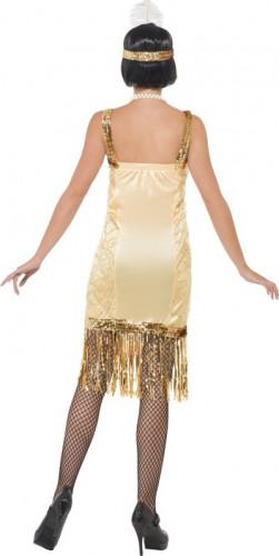 Goudkleurig jaren 20 kostuum voor dames-2