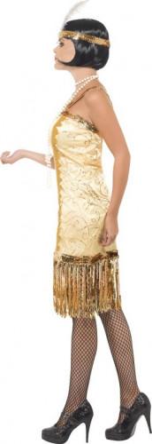 Goudkleurig jaren 20 kostuum voor dames-1