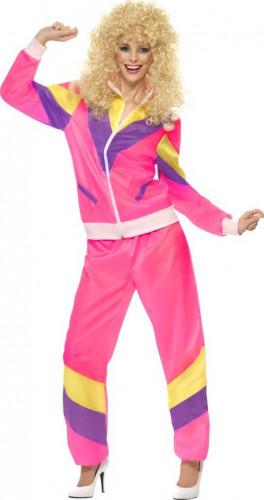 Kleurrijk flashy jaren 80 trainingspak voor dames