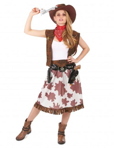 Bruin Far West cowgirl kostuum voor vrouwen