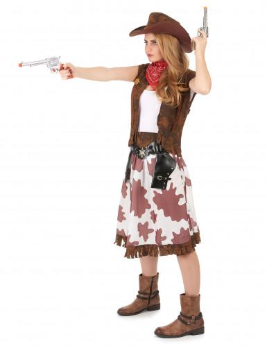 Bruin Far West cowgirl kostuum voor vrouwen-1