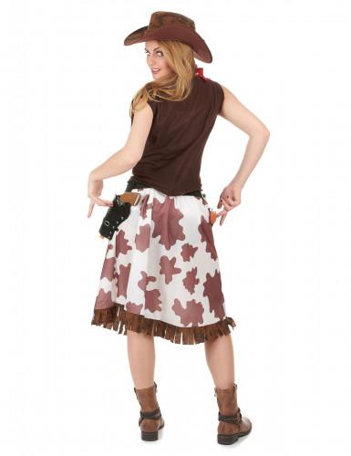 Bruin Far West cowgirl kostuum voor vrouwen-2