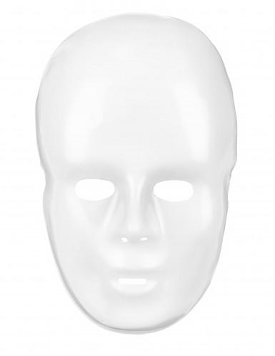 Plastic wit masker voor volwassenen