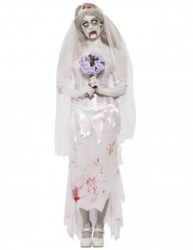 Getrouwde Zombie Halloween kostuum voor dames