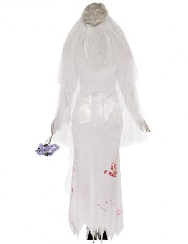Getrouwde Zombie Halloween kostuum voor dames-1