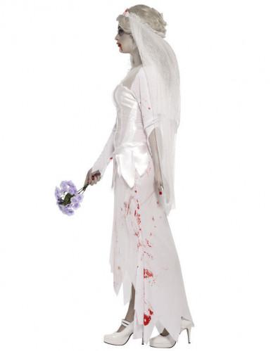 Getrouwde Zombie Halloween kostuum voor dames-2
