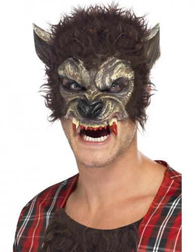 Weerwolf halfmasker voor volwassenen