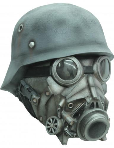 Masker soldaat met gasmasker