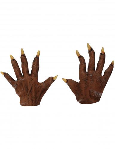 Latex weerwolf handschoenen voor volwassenen