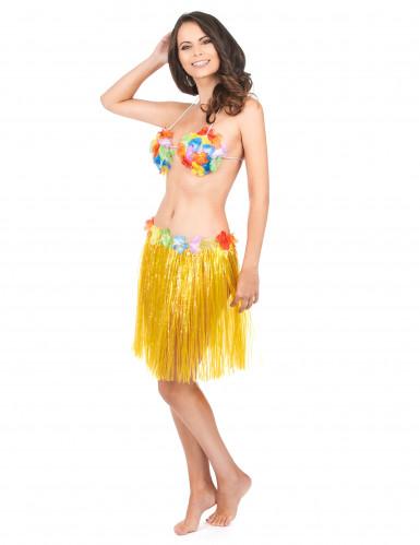 Gele hawaiiaanse rok voor volwassen