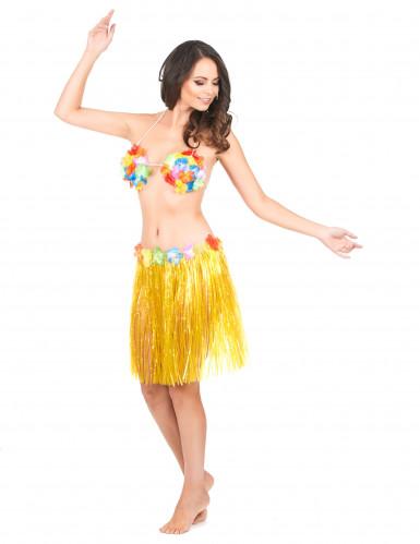 Gele hawaiiaanse rok voor volwassen-1