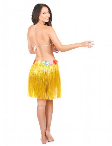 Gele hawaiiaanse rok voor volwassen-2