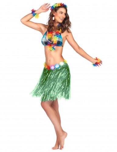 Groen hawaiiaanse rok voor volwassenen