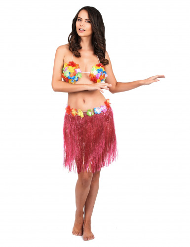 Roze hawaii rok voor volwassen