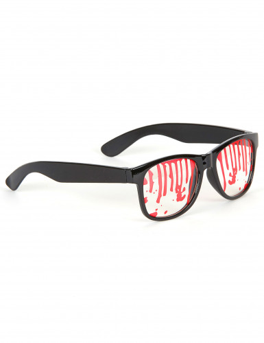 Bebloede bril Halloween accessoire