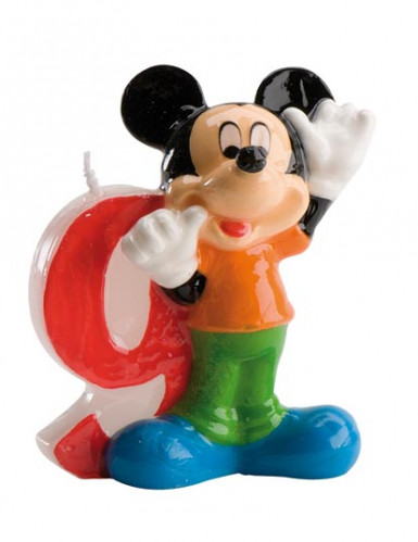 Kaarsje Mickey™ cijfer 9