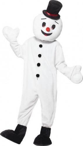 Sneeuwpop mascotte kostuum voor volwassenen