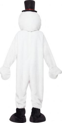 Sneeuwpop mascotte kostuum voor volwassenen-2