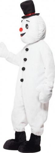 Sneeuwpop mascotte kostuum voor volwassenen-1