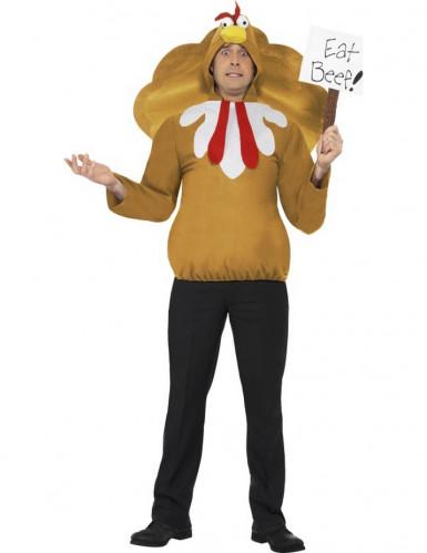 Verkleedkostuum grappig kalkoen voor volwassenen Kerst