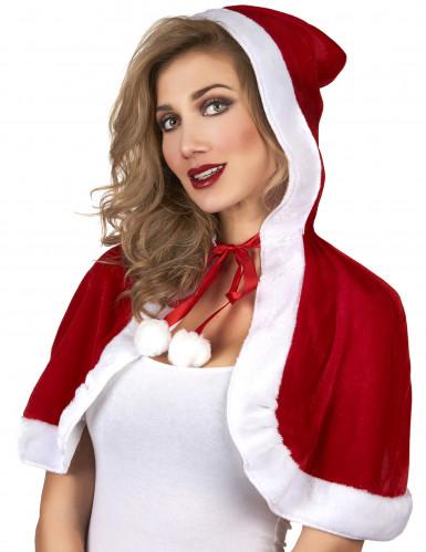 Korte Kerstvrouw cape