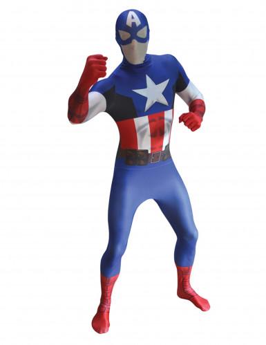 Captain America™ second skin pak voor volwassenen