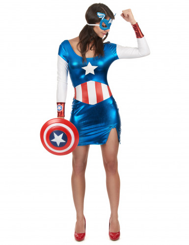 Sexy Captain America Girl pak voor dames