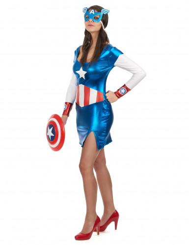 Sexy Captain America Girl pak voor dames-1