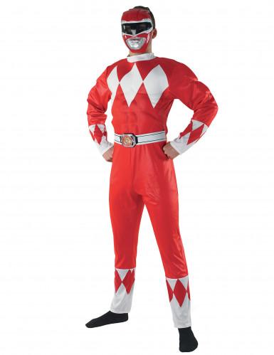 Rood Power Rangers™ pak voor volwassen