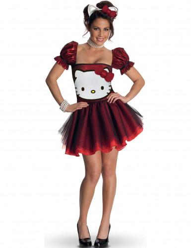 Rood Hello Kitty™ kostuum voor volwassen