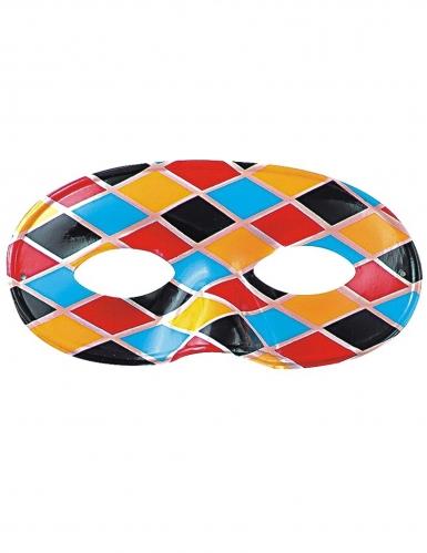 Harlekijn masker met ruiten voor volwassenen