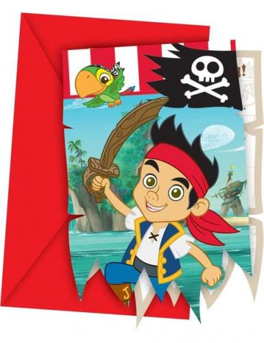 6 Uitnodigingen van Jake en de piraten™